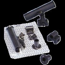 allpa Kunststof hengelhouder voor railing- (Ø25mm), dek- of zijmontage, L=215mm, max. Ø40mm, zwart