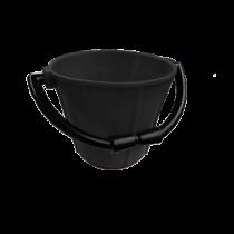 allpa PVC puts  zwart 7,5Ltr; met kunststof beugel en handgreep