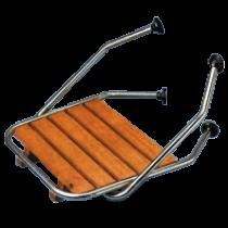 allpa RVS Zwemplateau met teakhouten vlonder, voor rondlopende spiegels, buis Ø25mm
