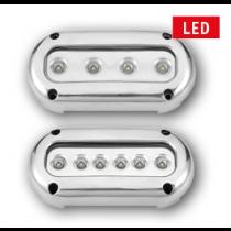 allpa LED onderwaterverlichting, opbouw, 10-30V, Blue / Cool White