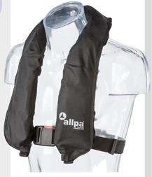 """allpa Automatisch reddingsvest model """"Antares 150N"""", >40kg, zwart (CE ISO 12402-3 150N)"""