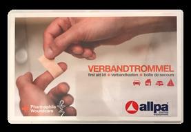 "allpa Verbandtrommel type ""A"", uitgebreide inhoud, inclusief wandhouder"