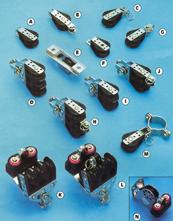 allpa Kunststof blokken met RVS versterkte wangen, 6mm