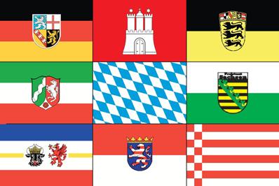 Deelstaatvlaggen Duitsland 20x30cm