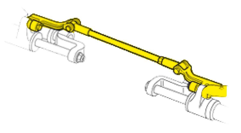 SeaStar Tie bar kit voor frontmontage twin-cilinders, twin-engines