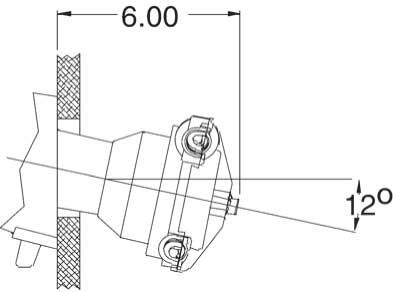 SeaStar 20º Montageset voor stuurkop